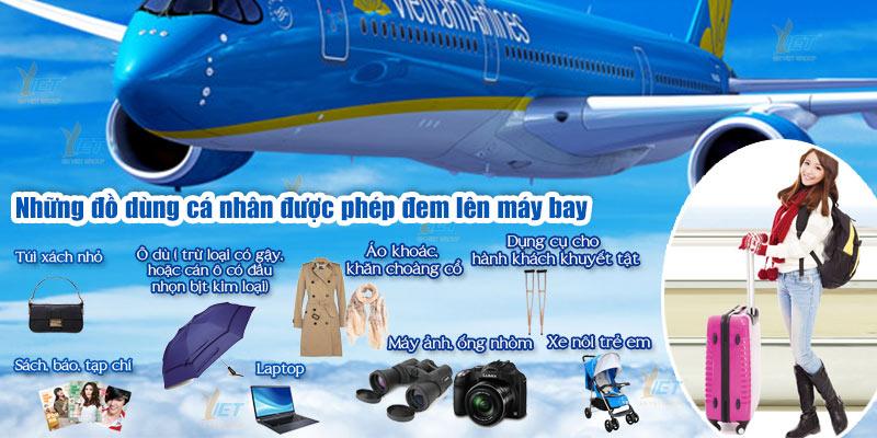 Những vật dùng được phép lên máy bay